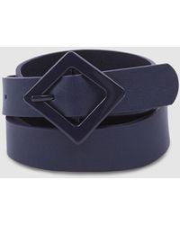 Jo & Mr. Joe Navy Blue Belt With Diamond Buckle