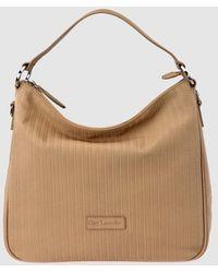 Guy Laroche Camel-coloured Plaited Leather Hobo Bag With Detachable Strap - Multicolour