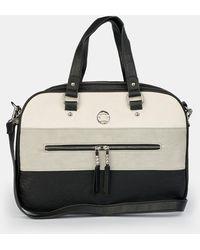 Caminatta Wo Large Black Portfolio With Contrasting White Details