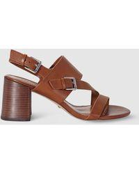 Lauren by Ralph Lauren - High-heel Sandals With Multicoloured Straps Florin Model - Lyst
