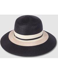 El Corte Inglés Black Paper Hat With Stripes