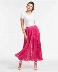 Guess Luisa Long Accordion Pleat Skirt - Pink