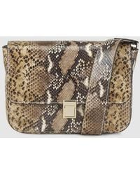 Gloria Ortiz Fiona Leather Crossbody Bag With Snakeskin Print - Multicolour