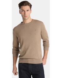 Polo ralph lauren Brown V-neck Merino Wool Sweater in Brown for ...