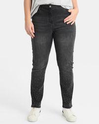 Couchel - Plus Size Skinny Jeans With Diamanté - Lyst