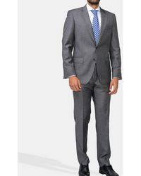 Mirto - Regular-fit Grey Checked Suit - Lyst