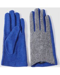 El Corte Inglés - Contrasting Blue Gloves - Lyst