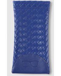 El Corte Inglés Blue Interwoven Glasses Case