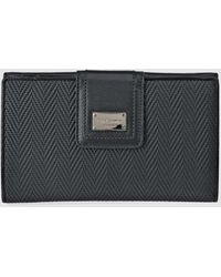 Guy Laroche - Large Black Embossed Wallet With Two Compartments - Lyst