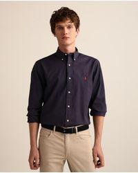 Polo Ralph Lauren - Camisa De Hombre Regular Lisa Azul - Lyst