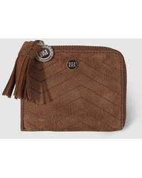 Gloria Ortiz - Wo Small Brown Leather Wallet With Zip - Lyst