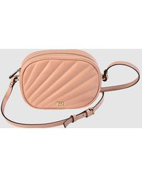 Gloria Ortiz Margherita Nude Quilted Leather Mini Crossbody Bag - Natural