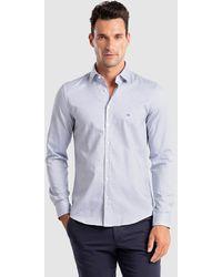Calvin Klein Camisa De Hombre Slim Lisa Azul