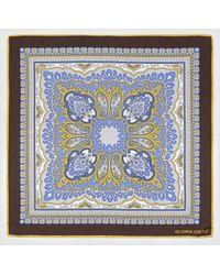 Gloria Ortiz - The Bookseller Blue Printed Silk Handkerchief - Lyst