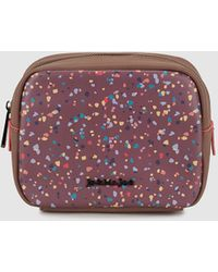 d8d1388dc223a1 Jo   Mr. Joe - Mauve Square Pencil Case With Multicoloured Spots - Lyst