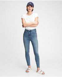 Gap Pantalón Jegging De Mujer Tiro Alto Bolsillos Secretos - Azul