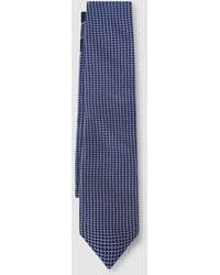 Tommy Hilfiger Navy Blue Silk Tie With An Embellished Micro-print