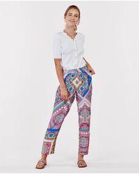 Rene' Derhy Pantalón De Mujer Largo Estampado - Azul