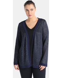 Couchel - Plus Size Cardigan With Sequins - Lyst
