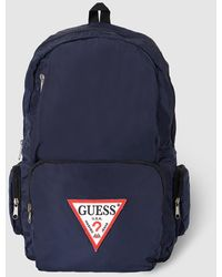 Guess - Mens Blue Backpack With Zip - Lyst