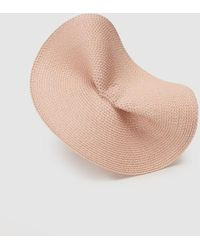El Corte Inglés Pink Paper Hat-style Fascinator With Scalloped Detail