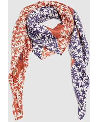 Esprit Coral Floral Print Handkerchief With A Contrasting Border - Pink
