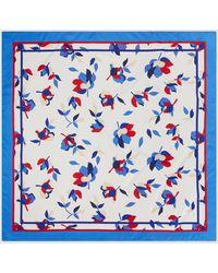El Corte Inglés Blue Floral Print Handkerchief