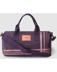 a76119a27da58a Jo & Mr. Joe - Purple Striped Neoprene And Nylon Morning Runner Sports Bag -