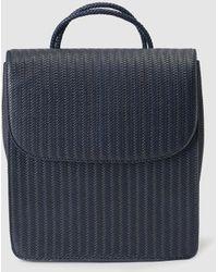 El Corte Inglés - Navy Blue Plaited Backpack With Flap - Lyst