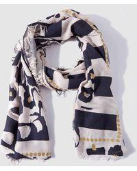 Caminatta - Blue And White Printed Foulard - Lyst