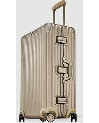 RIMOWA Topas Titanium Rigid Gold 82 L Medium Suitcase - Metallic