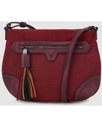 Pepe Moll - Wo Burgundy Crossbody Bag With Tassel Pull Tab - Lyst