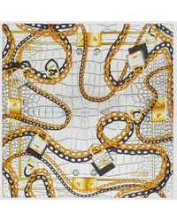 Guess White Handkerchief With Chain Print