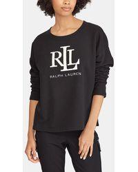 Lauren by Ralph Lauren - Sweatshirt With Front Print - Lyst