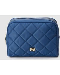 Gloria Ortiz Nanette Blue Nylon Quilted Toiletry Bag With Zip