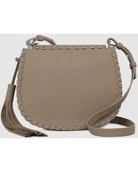 11d796a1b Henry Beguelin Sella Woven Leather Crossbody Bag Taupe in Brown - Lyst
