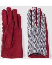 El Corte Inglés Contrasting Red Gloves
