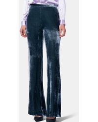 Mirto - Velvet Trousers With Side Fastening - Lyst