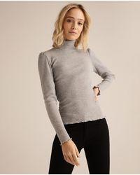 Green Coast Wo Long Sleeve Turtleneck T-shirt - Gray