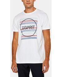 Esprit Mens White Short Sleeve T-shirt