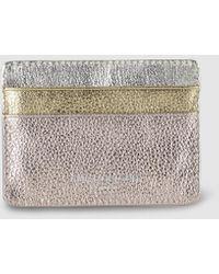 Kurt Geiger Pink Leather Card Holder With Contrasting Details