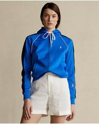 Polo Ralph Lauren Sudadera De Mujer Con Capucha Y Cremallera - Azul