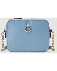f4883416e2 Lauren by Ralph Lauren Barclay Leather Crossbody Bag Limestone in ...