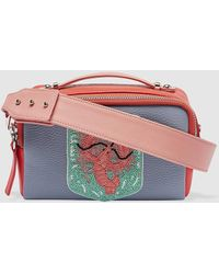 2cdc2ba99c62 Tita Madrid - Wo Small Two-tone Blue And Red Leather Crossbody Bag - Lyst