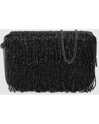 Gloria Ortiz - Club Evening Wear Black Crossbody Bag With Beaded Fringe - Lyst
