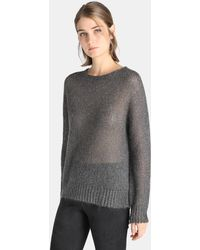 Indi & Cold   Grey Jumper With Lurex   Lyst