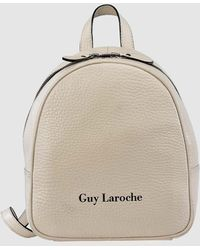 a8348cae5f2e1 Guy Laroche - White Leather Small Backpack With Zip - Lyst
