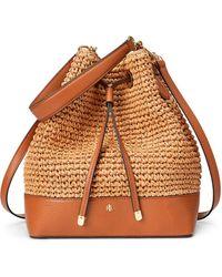 Lauren by Ralph Lauren Debby Natural Paper Bucket Bag With Several Handles