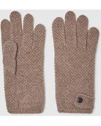 El Corte Inglés Taupe Moss Stitch Gloves - Multicolour