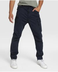 G-Star RAW - Pantalón Cargo De Hombre Azul Marino - Lyst